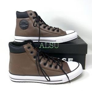 Converse Ctas PC Boot High Top Leather Brown Men's